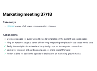 minutes of meeting template with action items