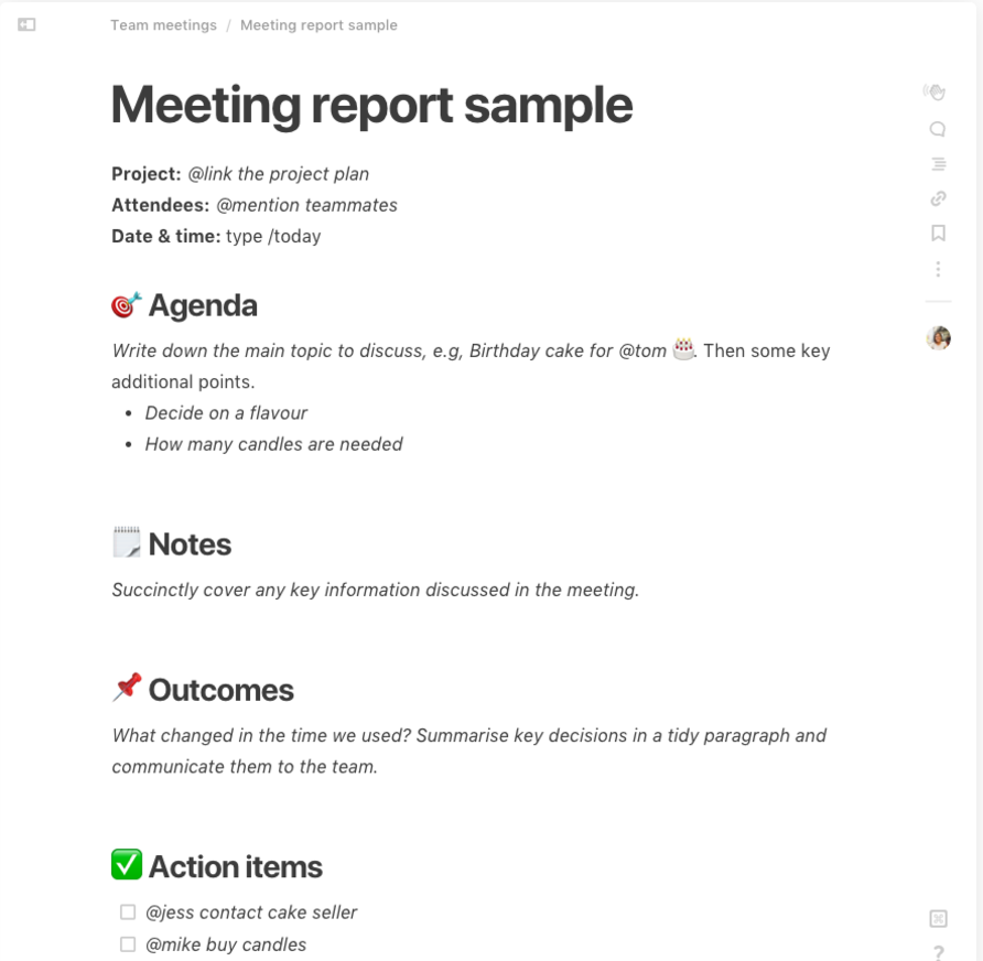 Meeting Minutes Template With Action Items