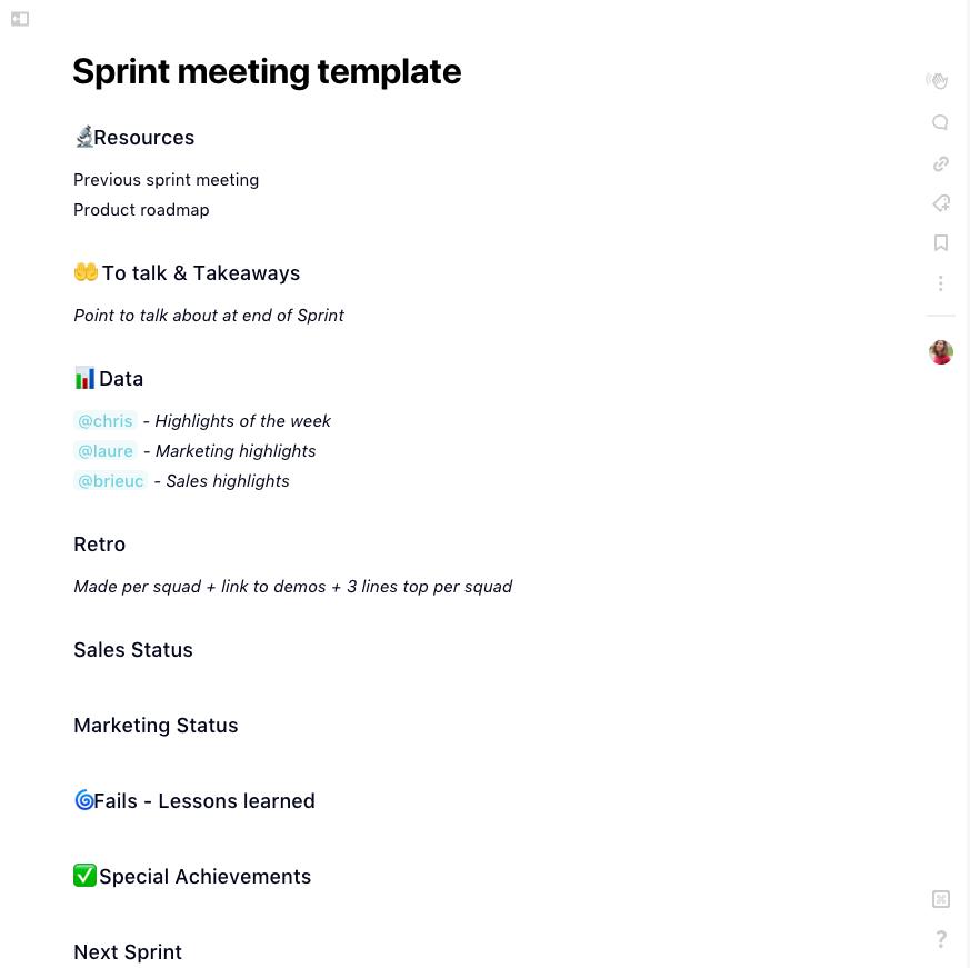 schedule of meetings template
